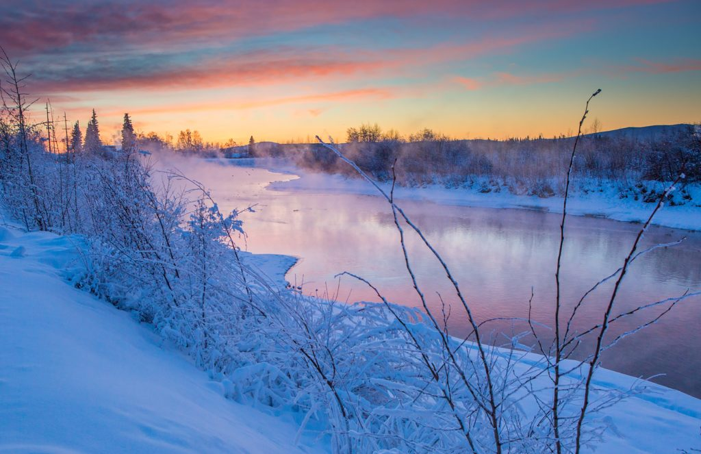 The Chena River in the winter time